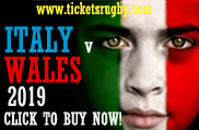 Italy v Wales rugby tickets Rome