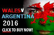Wales v Argentina rugby tickets Cardiff