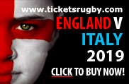 England v Italy 2019 Rugby Tickets