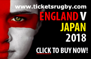 England v Japan rugby tickets 2018