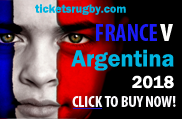 France v Argentina Rugby Tickets 2018
