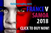 France v Samoa rugby tickets 2018