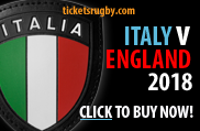 2018 Italy v England rugby tickets