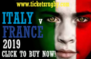 Italy v France rugby tickets 2019