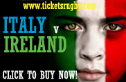 Italy v Ireland Rugby Tickets 2021