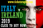 2019 Italy Ireland Rugby Tickets