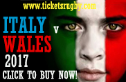 Italy v Wales 2017 Rugby Tickets