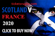 Scotland v France 2020 rugby tickets