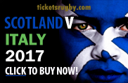 Scotland v Italy 2017 rugby tickets