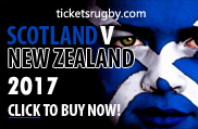 Scotland v All Blacks 2017 rugby tickets