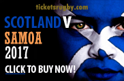 Scotland v Samoa rugby tickets 2014
