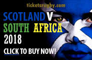 Scotland v Boks 2018 rugby tickets