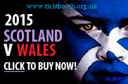 Scotland v Wales 2015 rugby tickets