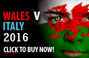 Wales v Italy 2016 rugby tickets - Cardiff