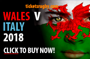 Wales v Italy 2018 Rugby Tickets