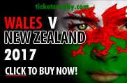 Wales v New Zealand rugby tickets