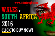 Wales v South Africa 2016 Rugby Tickets